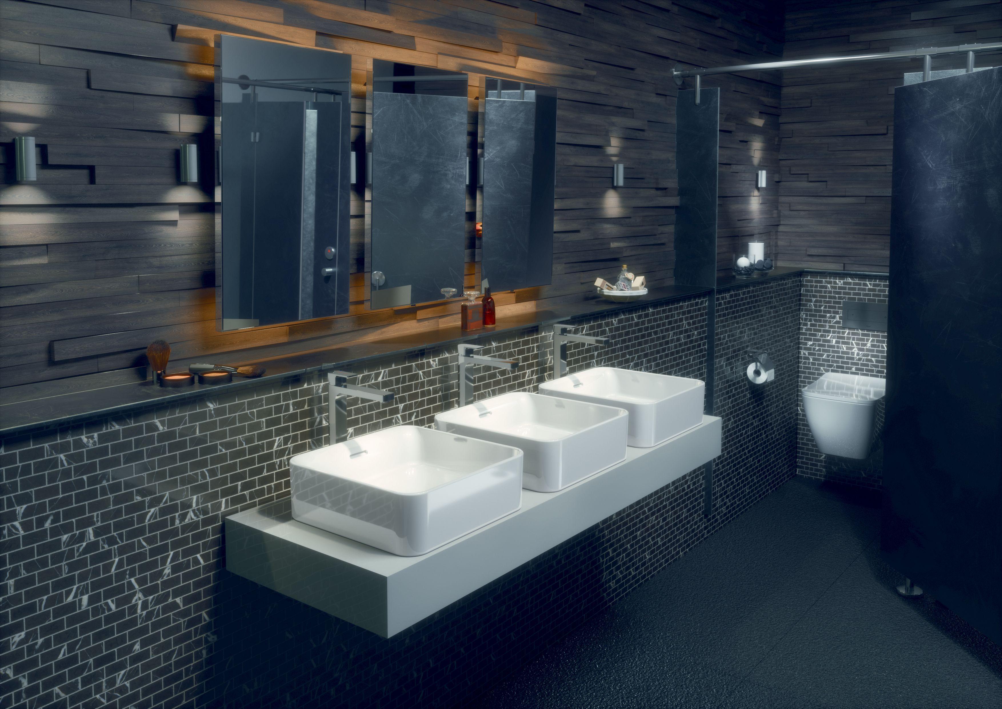 Des Toilettes Design Dans Les Lieux Publics C Est Possible En Associant Les Nouvelles Collections De Toilette Design Mobilier De Salon Collection De Meubles