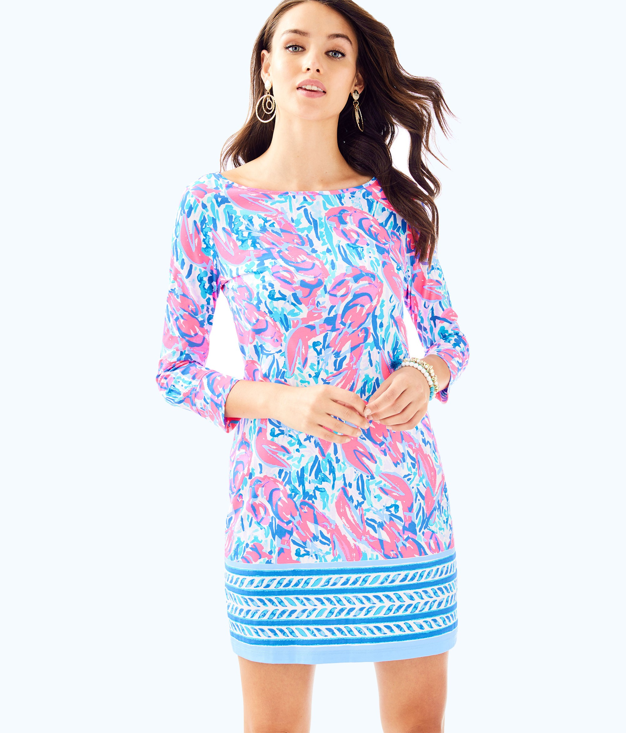 Lilly Pulitzer Marlowe Boatneck T Shirt Dress Xs Products In