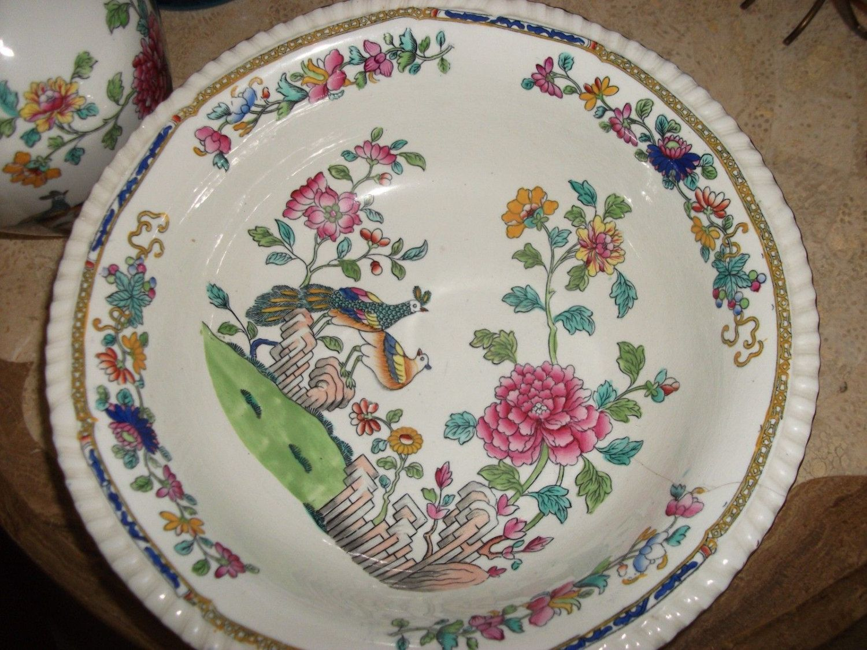 Antique Decorative Bowls Copeland Spode Mortlock Pheasant Peacock Fruit Decorative Bowl