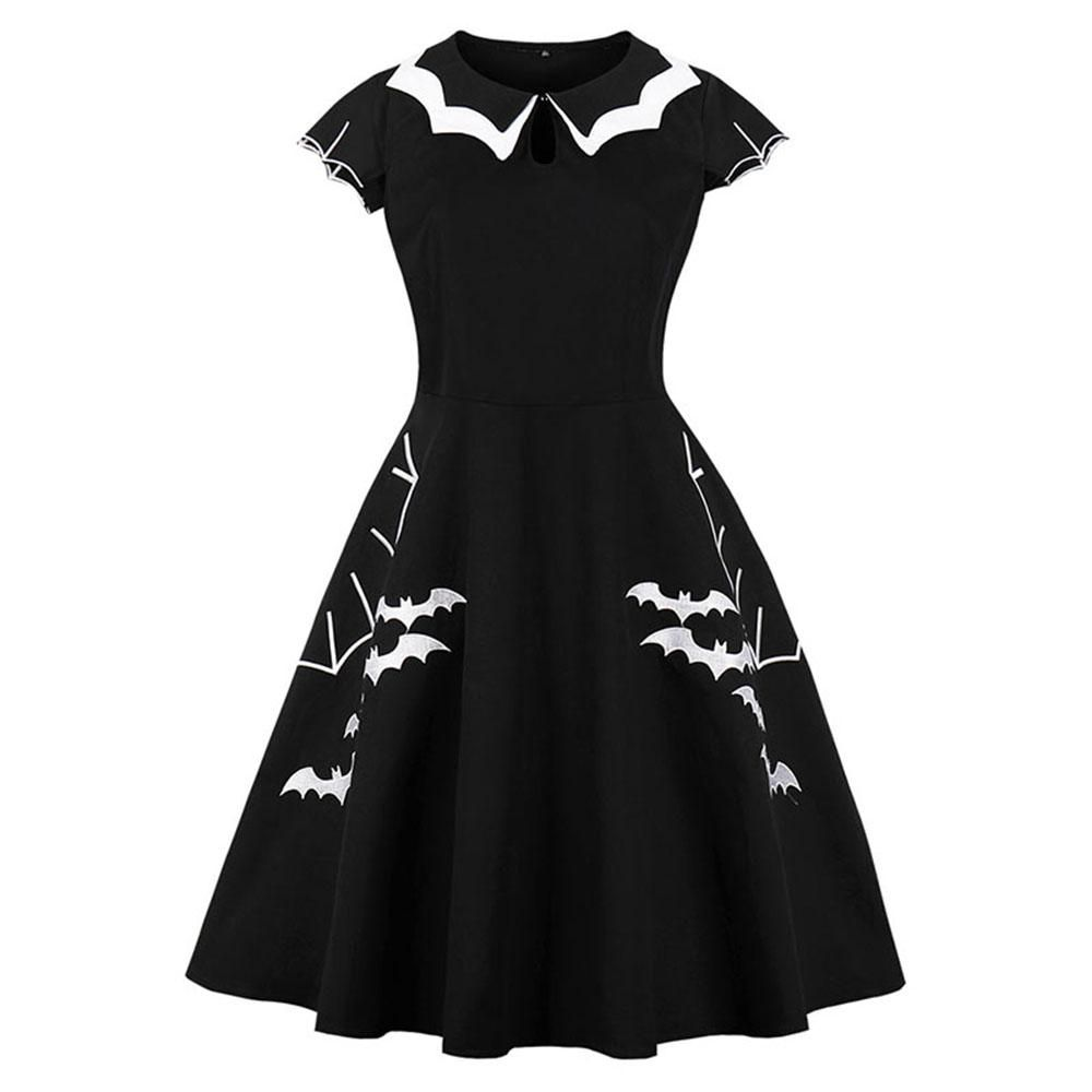 e366d16df749 Vintage Gothic Summer Plus Size Halloween Dress in 2019 | Halloween ...