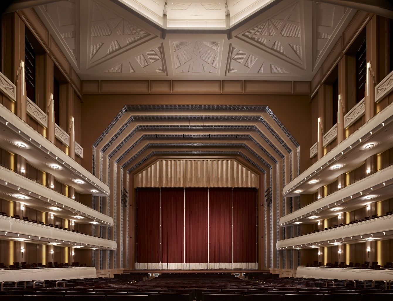 The Stage In Reynolds Hall At The Smith Center Las Vegas Nv Smith Center Theater Architecture Art Deco Buildings