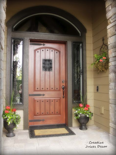 Making Your Front Door Unique Tuscan Style Tuscanmediterranean