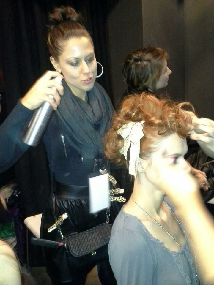 Nyc fashion week artist jaime from tranquility salon