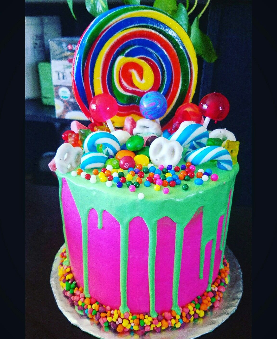 Candy Land Theme Cake Dripped Cake