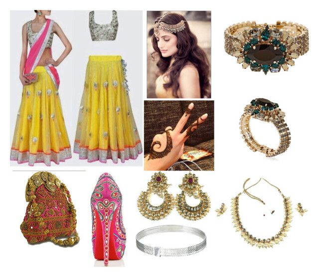 """""""bollywood"""" by maria-milagro-malik ❤ liked on Polyvore featuring Anton Heunis and Sterling Essentials"""