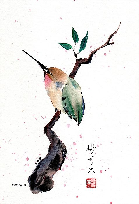 Retreat Japanese Watercolor Sumi E Painting Chinese Painting