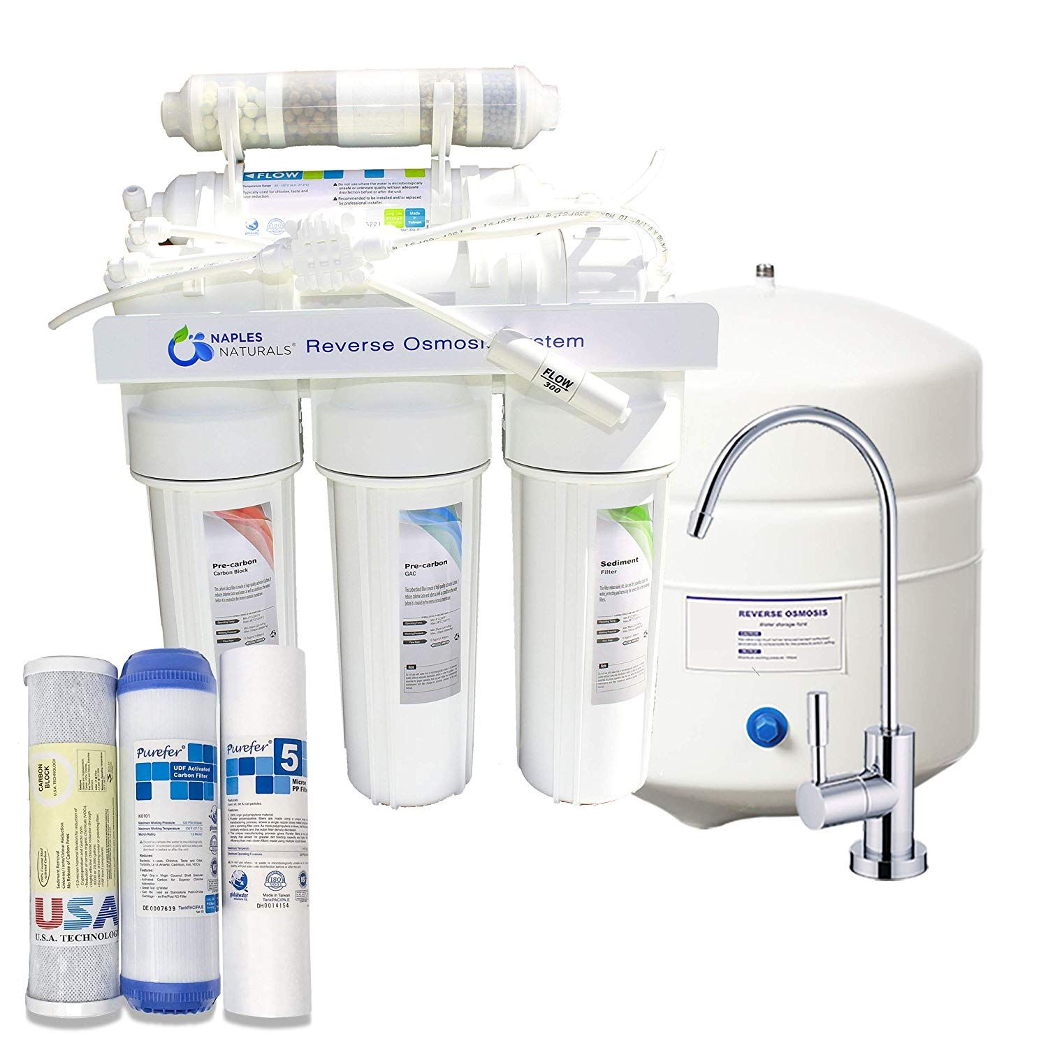 Premium 5 Stage Reverse Osmosis Drinking Water Filtration System Remove Chlorine Heavy Me Reverse Osmosis Water Filter Reverse Osmosis Reverse Osmosis Water