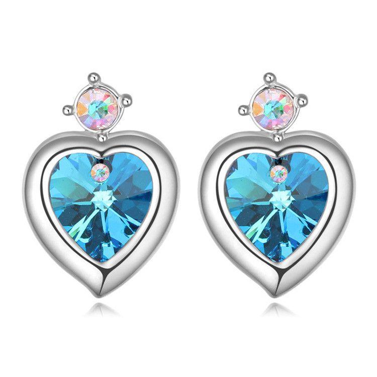 Clip Earrings Platinum Plated Swarovski Elements Crystal Butterfly Clip on Earrings for Women QzsvT