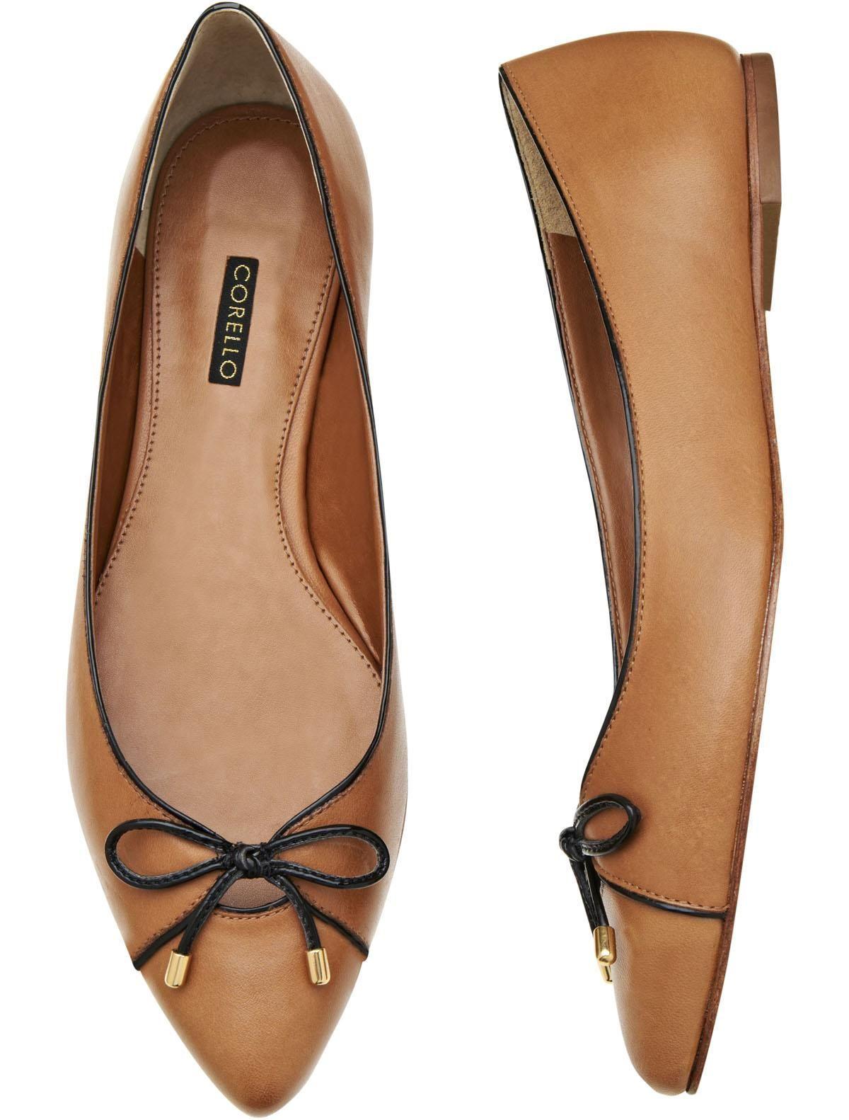 7ada55341 Sapatilha Bico Fino Couro | Feminino | Sapatilhas, Sapatos ...
