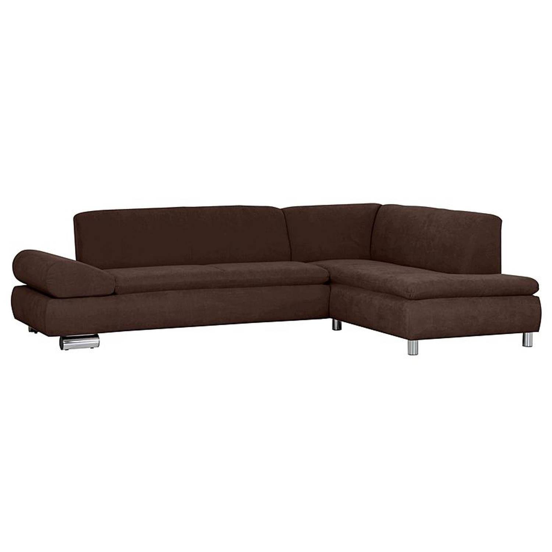Sofa 2 5 Sitzer Links Mit Ecksofa Rechts Palm Bay 23 Veloursstoff Farbe Braun Sitzharte Weich B Cm T Cm H 76cm In 2020 Sofa Billig Ecksofa Sofa