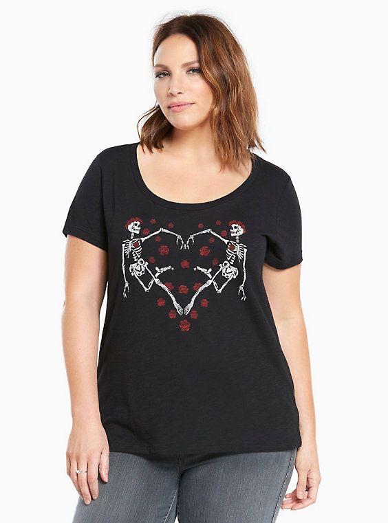 00bdb4a544368 Skeleton Heart Graphic Scoop Tee