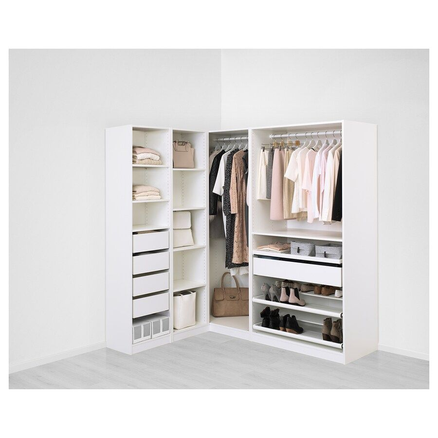 Armoire D Angle Dressing pax armoire d'angle | penderie d angle, ikea pax et armoire