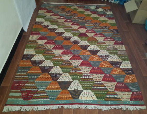 Moroccan Picasso rug 243cm x 151cm taznakht berber by Tourismedia, $610.00