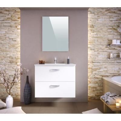 STELLA Ensemble salle de bain simple vasque L 80 cm - Tiroirs soft