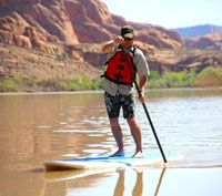 Moab Adventure: stand up paddleboard on the river
