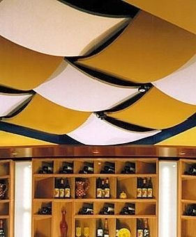 diy unfinished basement decorating fabric covered ceiling