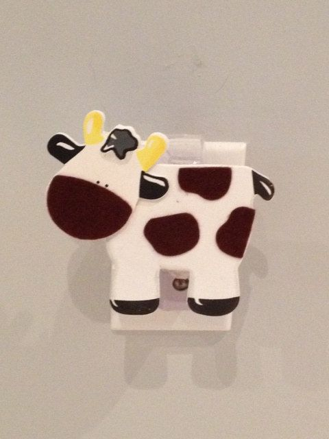 Cow Night Light Farm Animal Nursery Decor Wall By