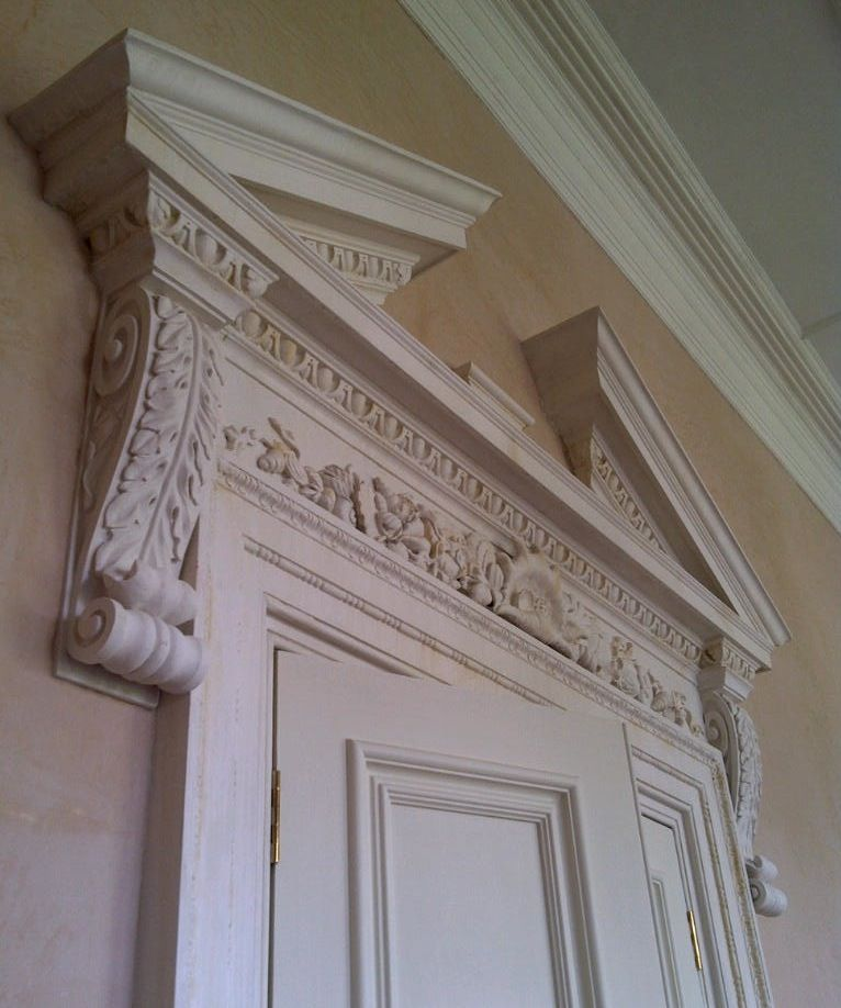 Acanthus corbel modelled to fit georgian door pediment - Decorative exterior door pediments ...