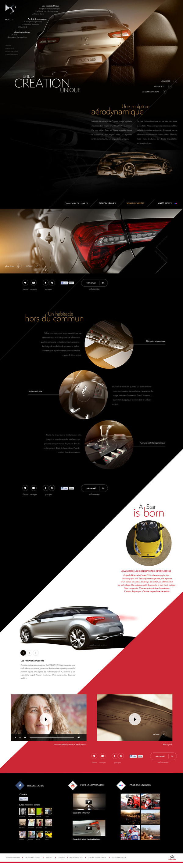 Citroën DS5 by Big Youth , via Behance Web layout design