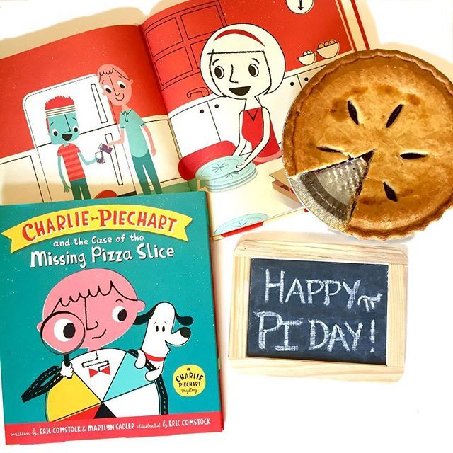 Happy Pi Day! We're celebrating with pie and pi and Charlie Piechart! What's your favorite kind of pie? π #piday #pie #pi #childrensbooks #kidlit #kidslit #bookstagram #CharliePiechart