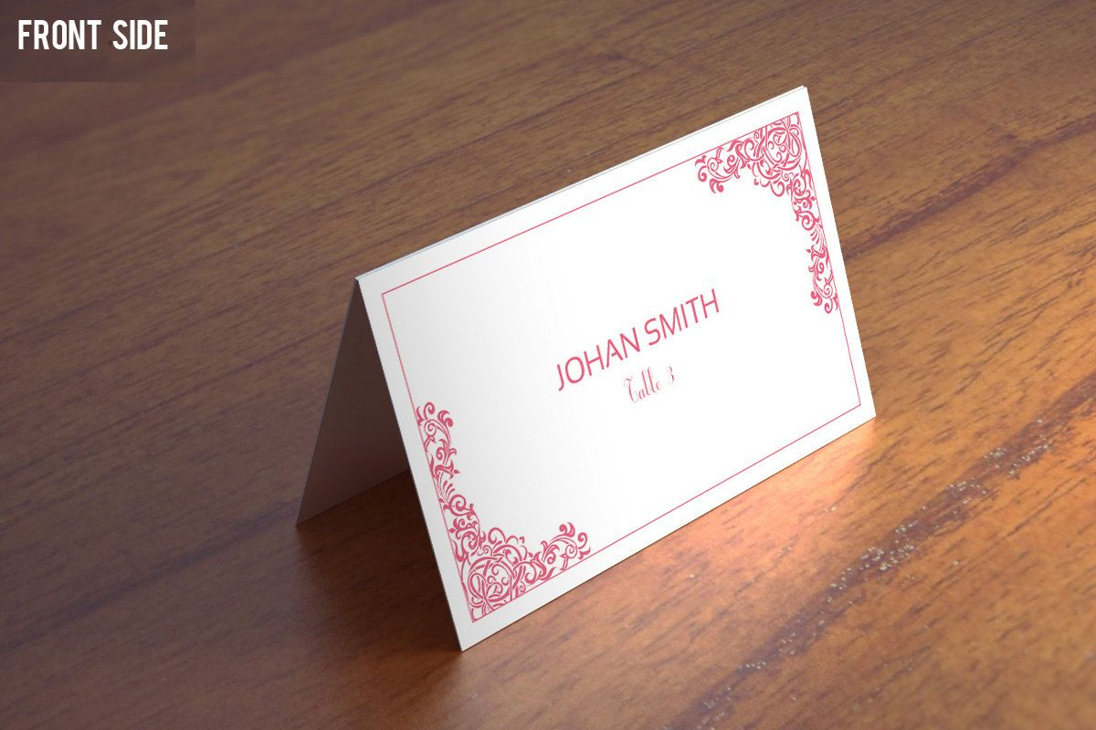 Wedding Place Card Template Wedding Place Cards Msword Template