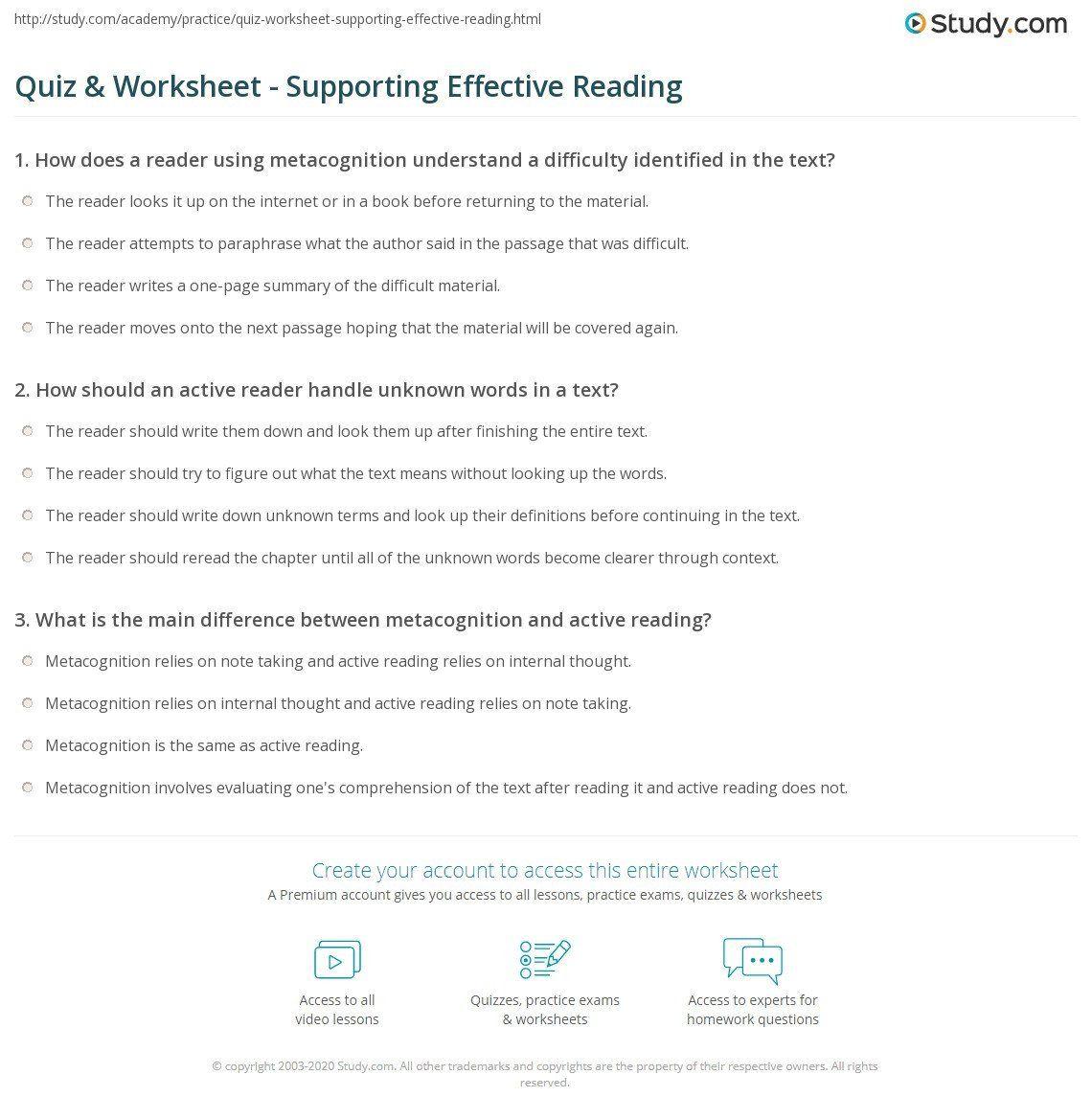 Paraphrase Worksheet 5th Grade Paraphrase Reasding Worksheet In 2020 Worksheets Number Recognition Worksheets Metacognition