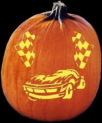 spookmaster race car pumpkin carving pattern punkins pumpkin rh pinterest com