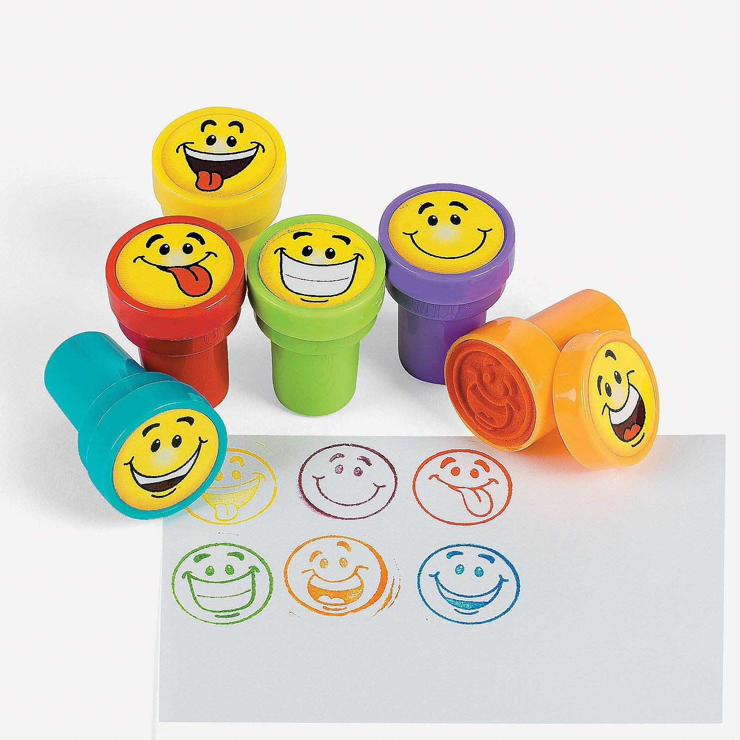 Goofy Smile Face Stampers 24ea for