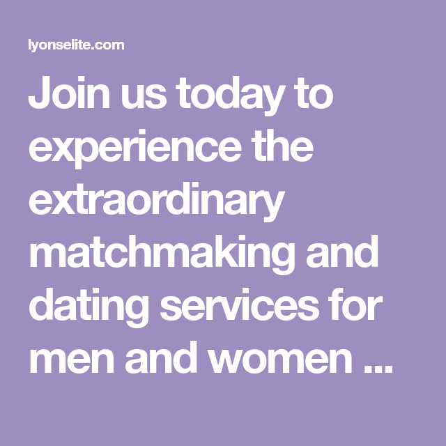 Toronto elite dating service Lyons Elite