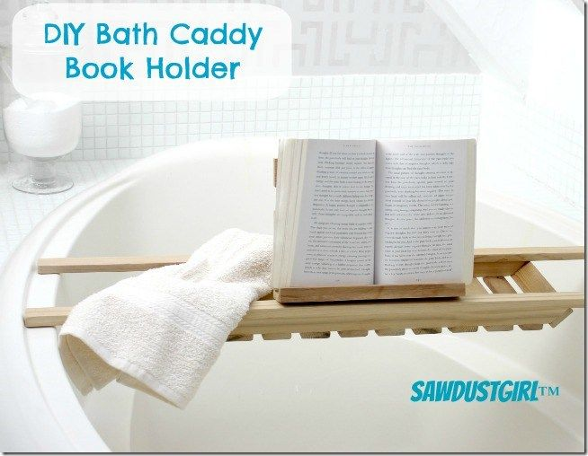 DIY Book Holder for Bath Caddies | Pinterest | Book holders and Diy ...