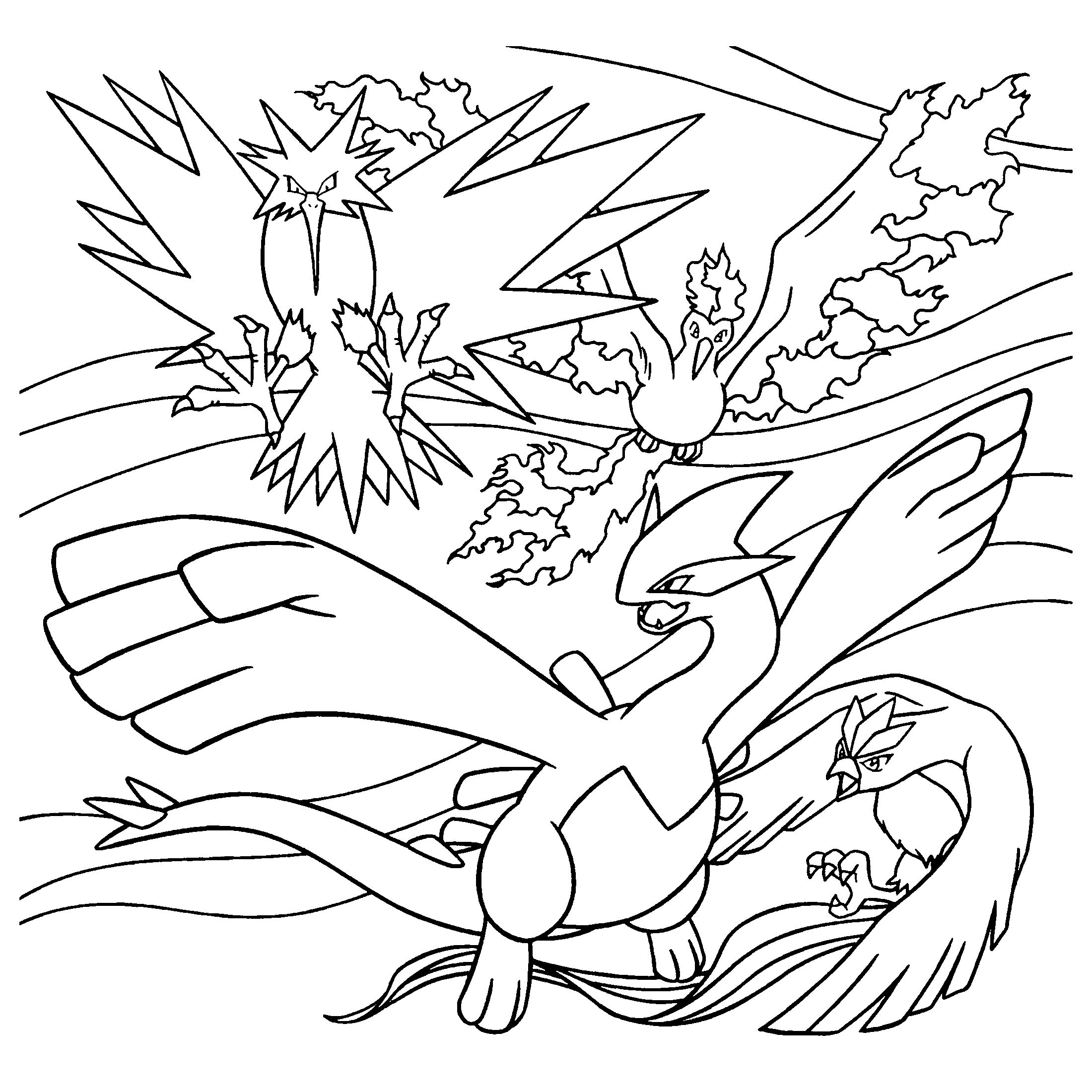 Pokemon Zapdos Coloring Pages Free Zapdos Pokemon Coloring Pages Pokemon Images