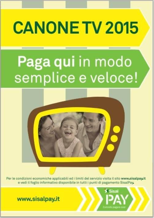 Paga Il Canone TV 2015 Con SisalPay Edicolapiù Di Montano Lucino è Anche  Ricevitoria Sisal Centro