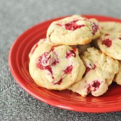Raspberry Lemon Cheesecake Cookies