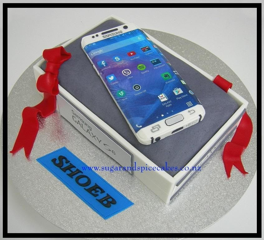Samsung Galaxy Edge S6 Cell Phone Cake birthday cake ideas