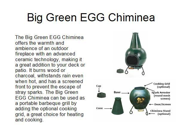 Attractive Big Green EGG Chiminea 4 Patio Heating U0026 Cooking.