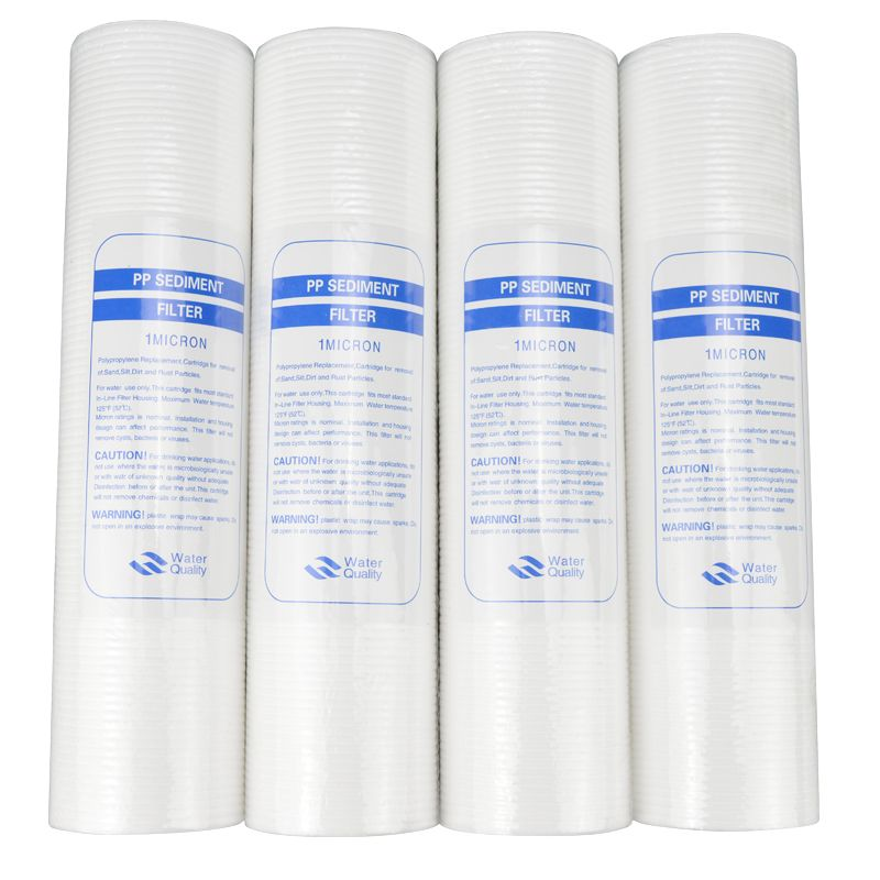 New 4pcs Pp Cotton Filter Water Filter Water Purifier 10 Inch Micron Sediment Water Filter Cartridge System Reverse Osmosis Kapas