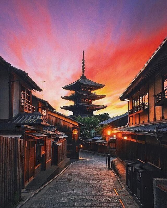 Beautiful Places In Japan Tumblr: Kyoto Japan The Sunset Is So Gorgeous . Follow @traveling