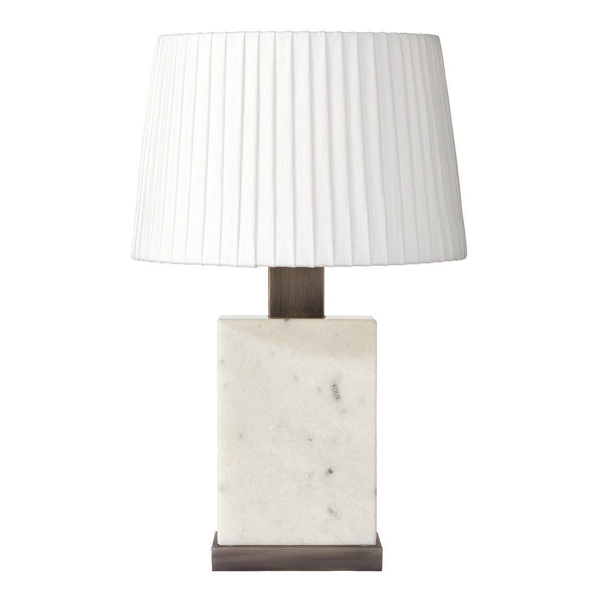 Aurelius Lamp Table Lamp White Lamp Shade White Marble