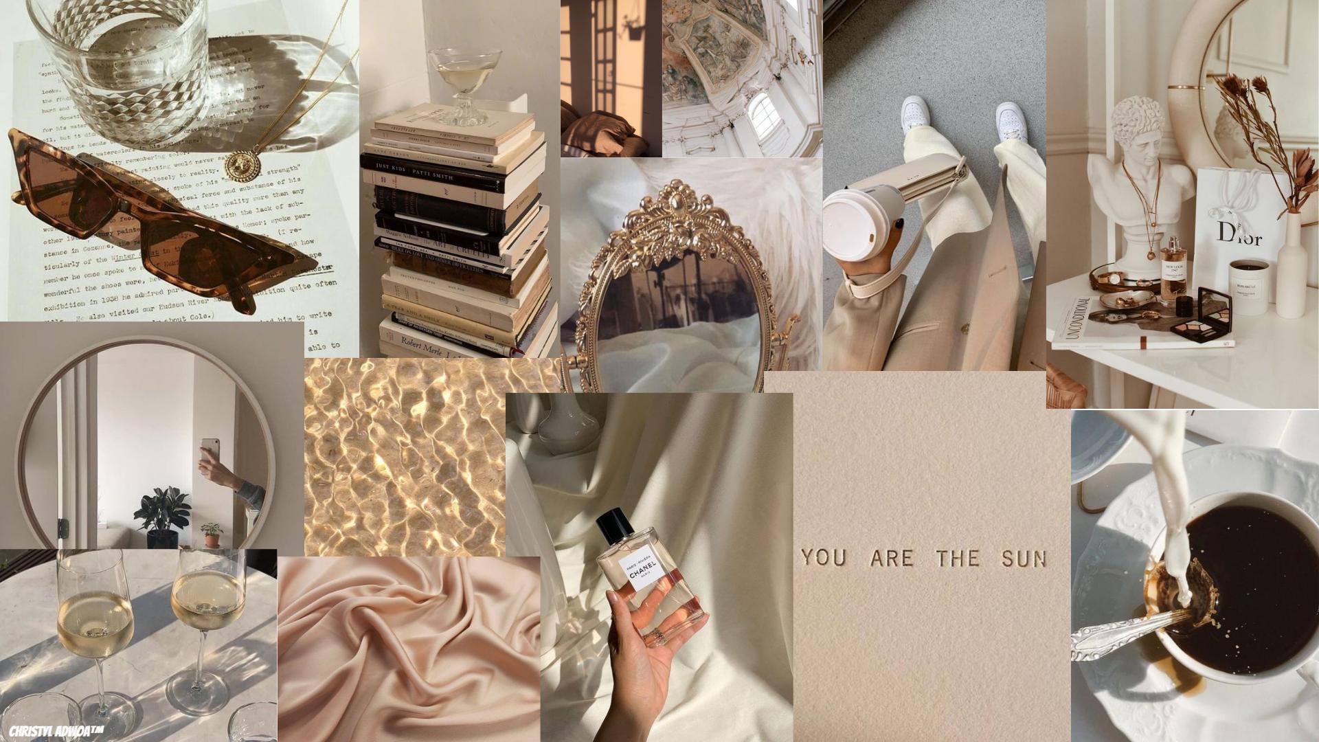 beige aesthetic collage aesthetic collage beige