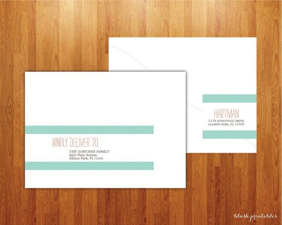 Wrap Around Address Labels Printable DIY For By Blushprintables 1500