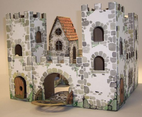 cardboard castle | In the Shop} Cardboard Decorating Activities | Blowout Party, making ...