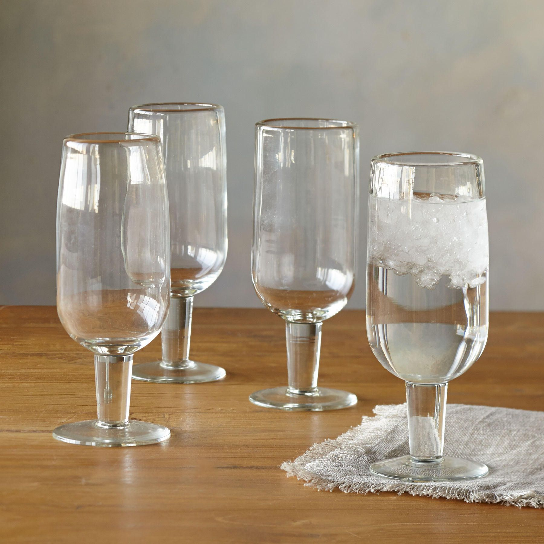 darby water glasses set of   traditional handblown glass takes  - darby water glasses set of   traditional handblown glass takes on moderndimensions