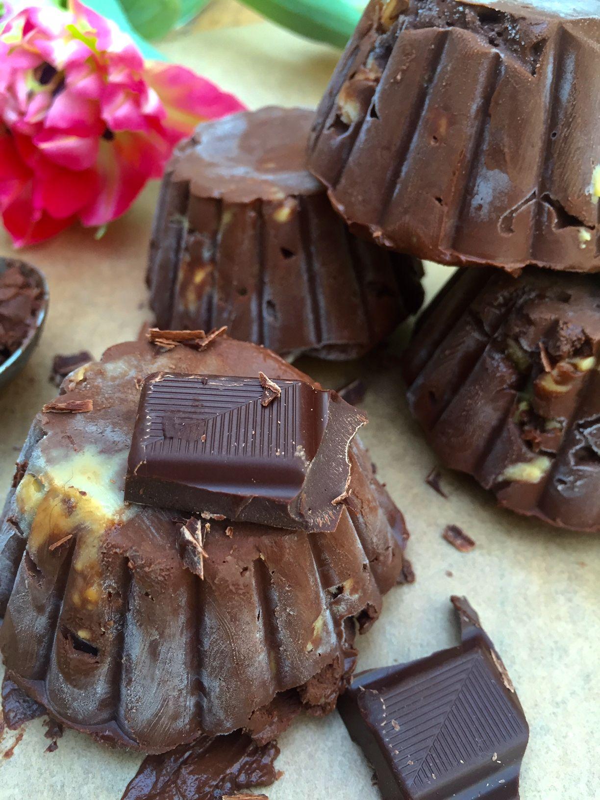 Rezept Veganes Eis Mit Dunkler Schokolade Und Crunchy Erdnussbutter