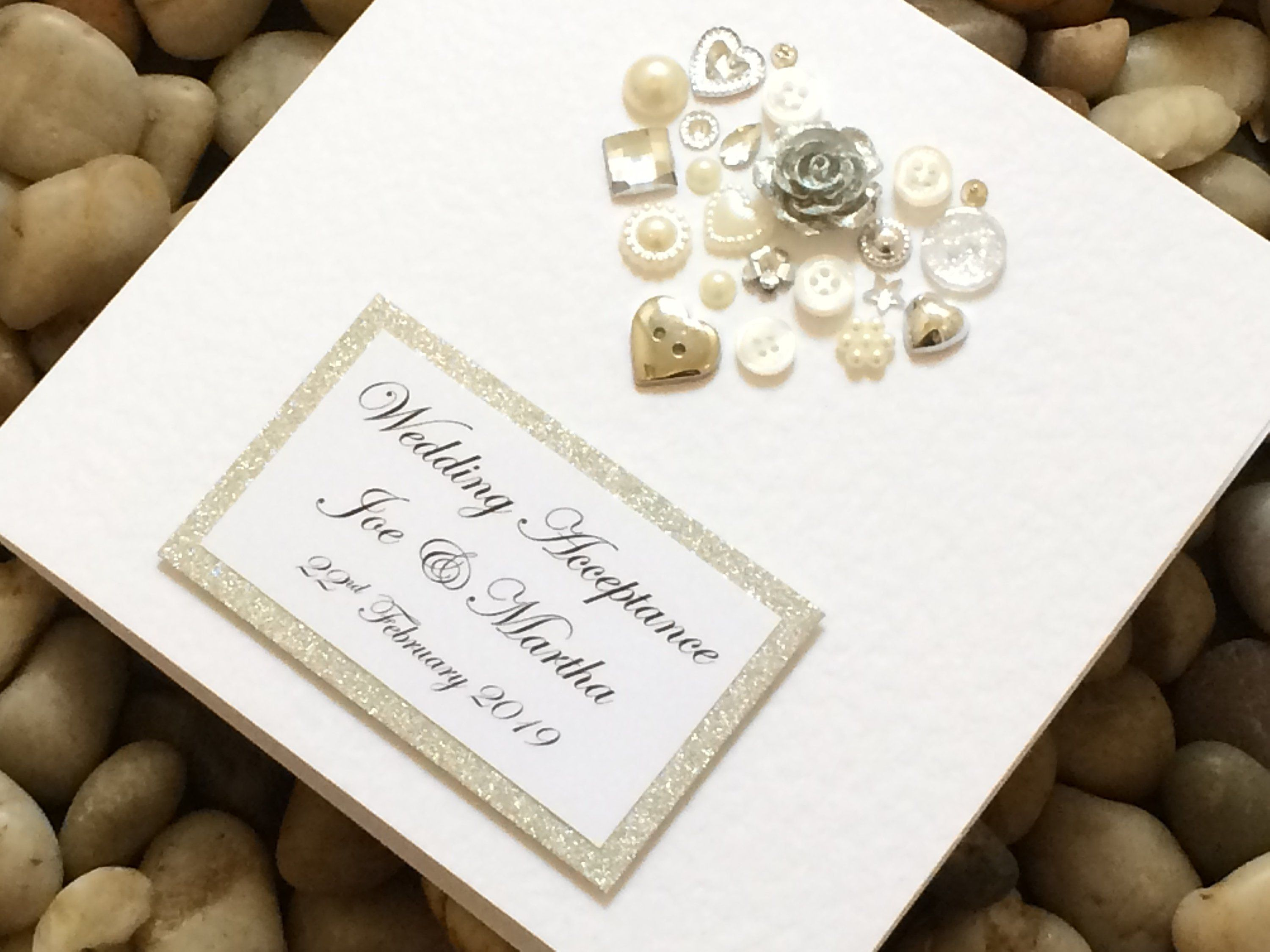 Personalised Wedding Acceptance Card Handmade Wedding Etsy Wedding Acceptance Card Wedding Response Cards Wedding Cards