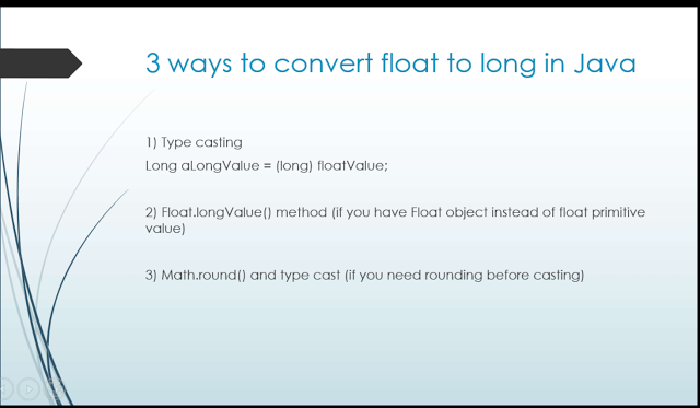 How to convert float to long or int in Java?   New things to learn. Java. Java programming