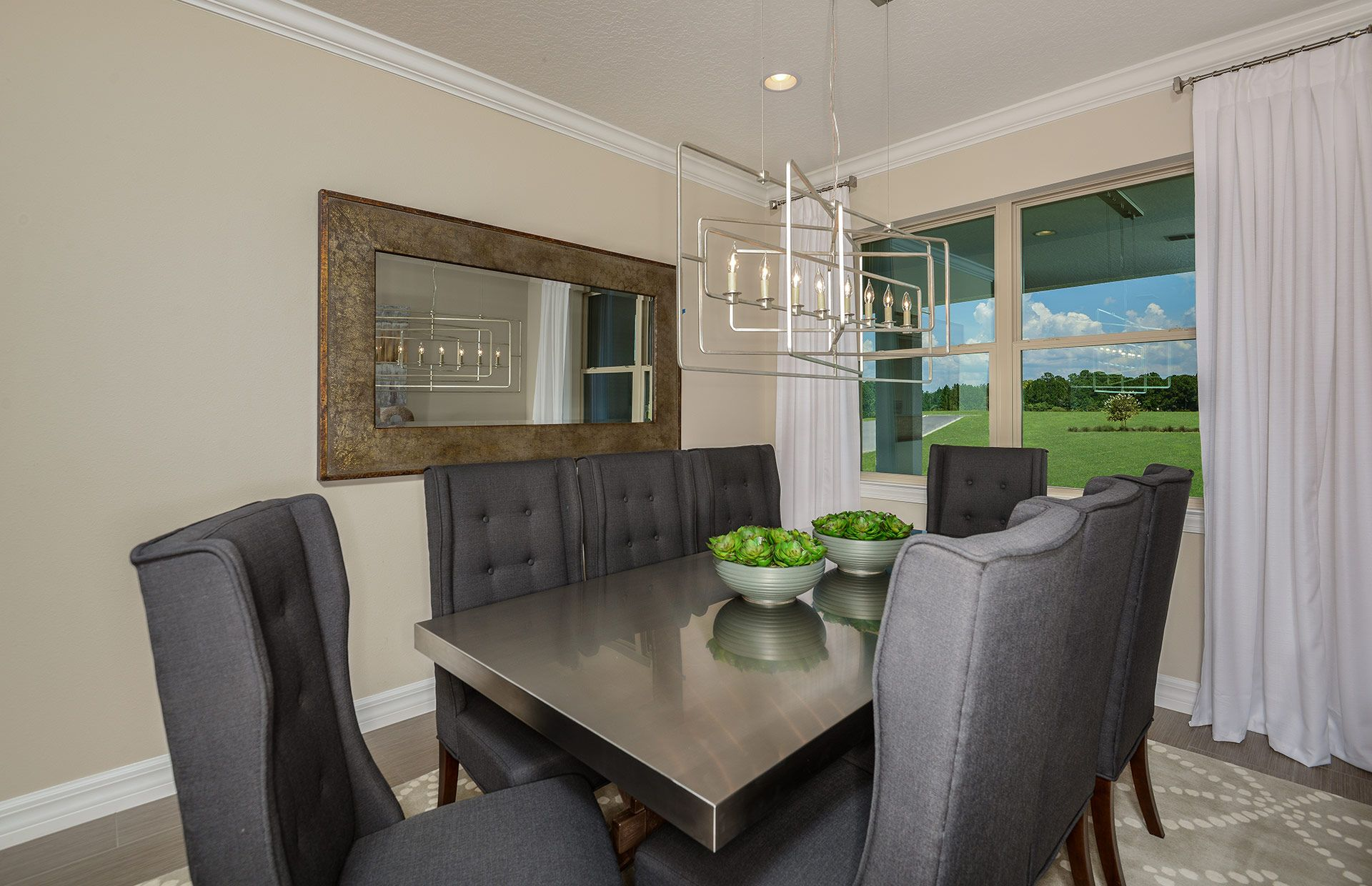 A Large Wall Mirror Will Visually Expand The Space In Your Dining Room. |  Pulte