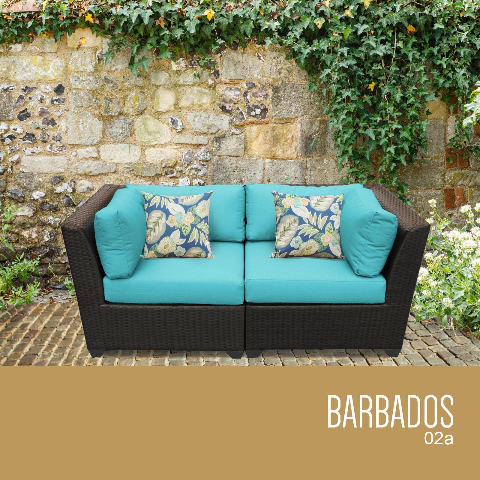 Barbados 2 Piece Outdoor Wicker Patio Furniture Set 02a Outdoor