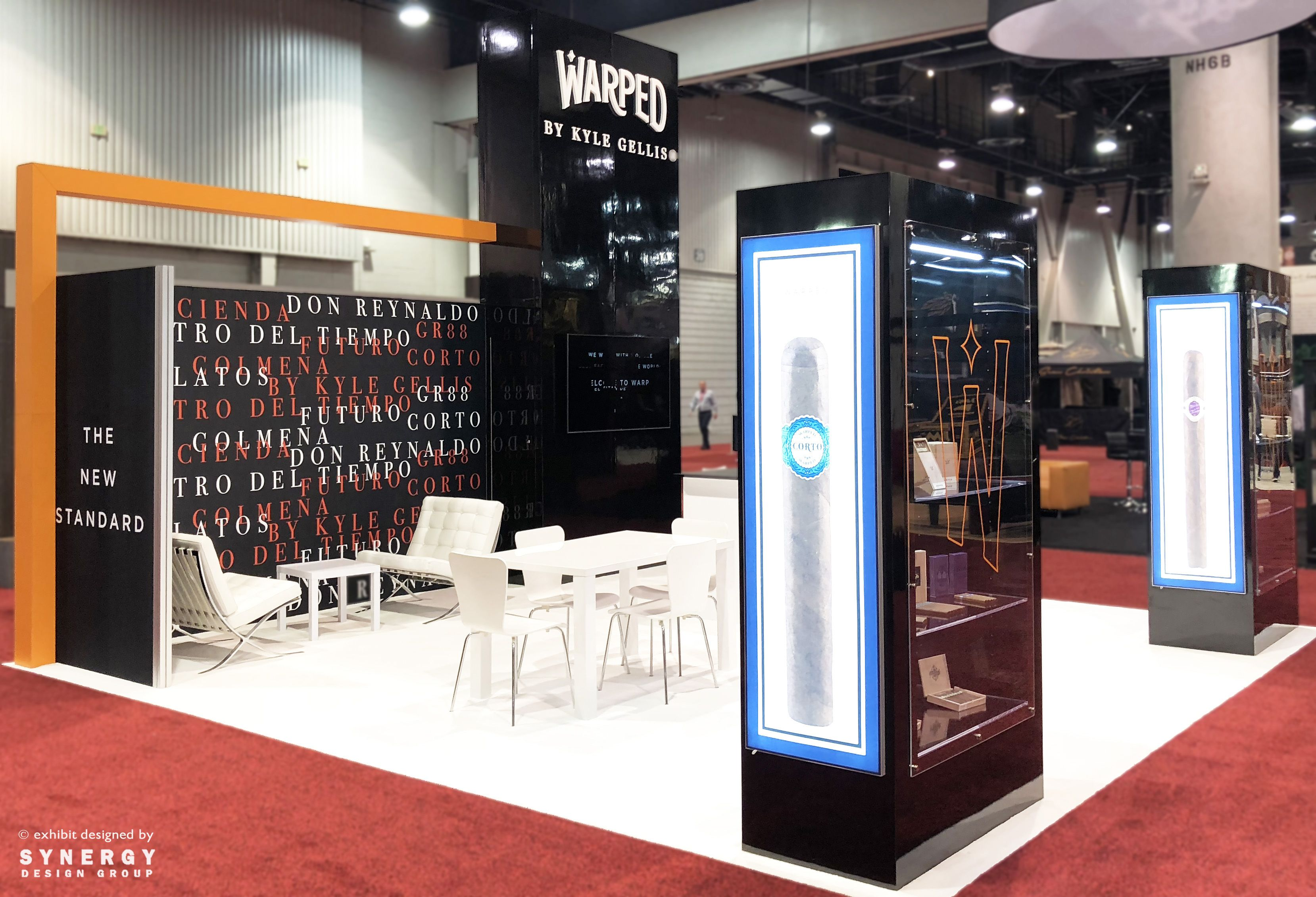 Client Warped Cigar S 20x20 Island Trade Show Booth For Ipcpr In Las Vegas Nevada Custom Product Showcases For Dis Exibition Design Trade Show Display Design