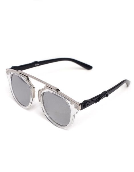 Eighty6 Overhang White and Silver Sunglasses