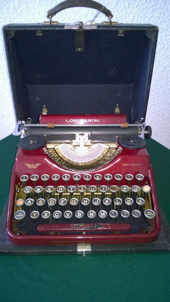 b6308b070dff7 RARE Vintage German typewriter CONTINENTAL Klein 1930   Seaplanes ...